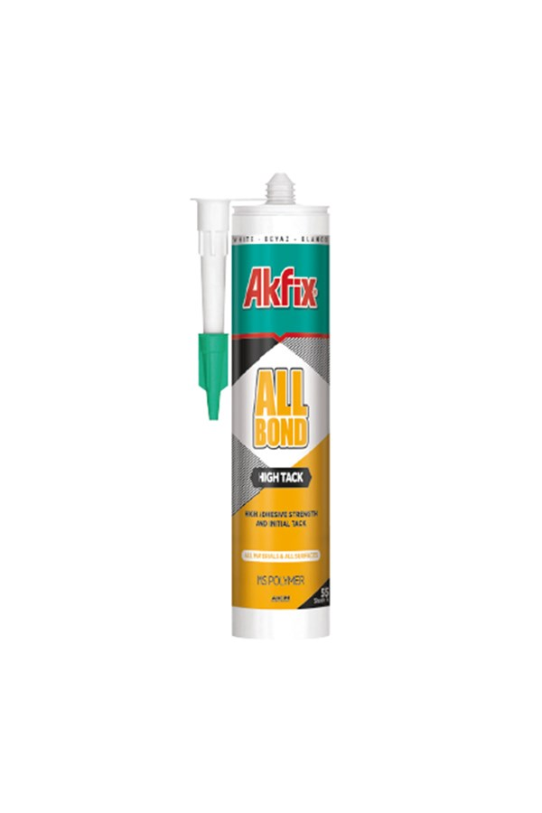 AKFİX MS757 HIGH TACK MS POLİÜRETAN MASTİK 290ML BEYAZ