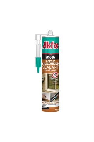 Akfix As606 Silikonize Mastik 310Ml Beyaz