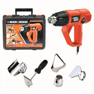 Black&Decker Kx2001K Sıcak Hava Tabancası 2000W Heat Gun + Kit Box